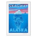 Sección representativa del iceberg - Skagway, Alas Tarjetón