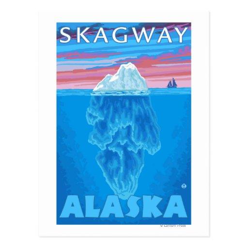 Sección representativa del iceberg - Skagway, Alas Tarjetas Postales