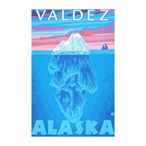 Sección representativa del iceberg - Valdez, Alask Impresiones De Lienzo