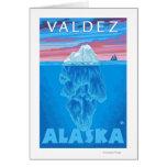 Sección representativa del iceberg - Valdez, Alask Tarjeta De Felicitación
