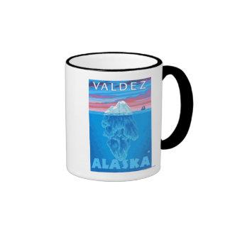 Sección representativa del iceberg - Valdez Alask Taza De Café