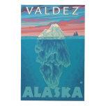 Sección representativa del iceberg - Valdez, Cuadro De Madera