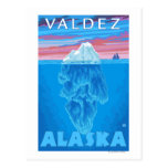 Sección representativa del iceberg - Valdez, Tarjeta Postal