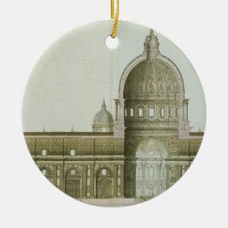 Sección representativa longitudinal de San Pedro e Ornamento Para Reyes Magos