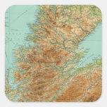 Sección septentrional de Escocia Pegatinas Cuadradases