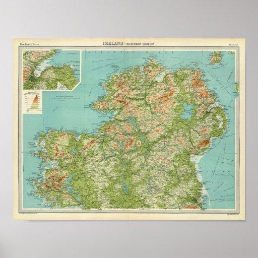 Sección septentrional de Irlanda Póster