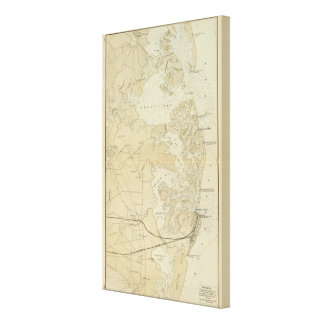 Sección Tuckerton de la costa al mapa de la carta  Impresion En Lona
