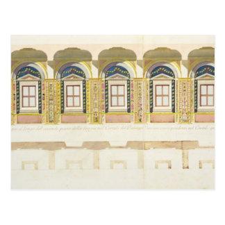 Sección vertical de la segunda planta del Raphae Tarjetas Postales