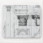 Sección y elevación de una columna compuesta tapetes de ratón