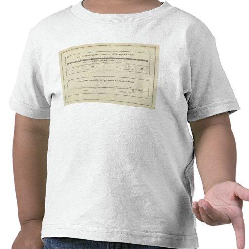 Secciones de la estructura de la montaña, diagrama camiseta