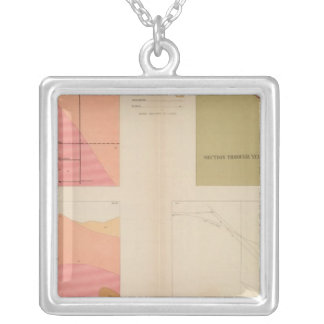 Secciones representativas verticales de la veta, m collar plateado
