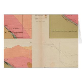 Secciones representativas verticales de la veta, m tarjeta de felicitación