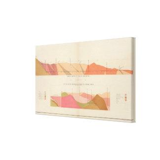 Secciones representativas verticales de la veta, t impresiones en lienzo estiradas