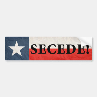 Secede! Bumper Stickers