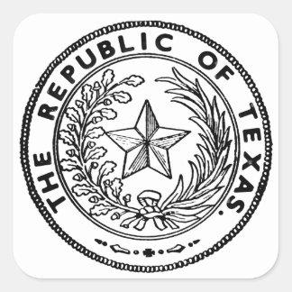 Secede la República de Tejas Colcomanias Cuadradases
