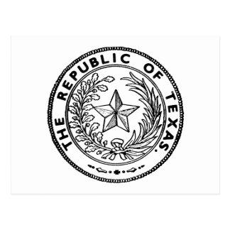 Secede la República de Tejas Tarjeta Postal