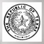 Secede la república del poster de Tejas
