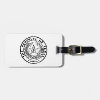 Secede Republic of Texas Bag Tag