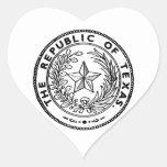 Secede Republic of Texas Heart Sticker