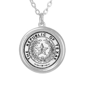Secede Republic of Texas Round Pendant Necklace