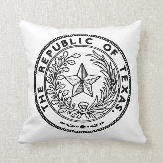 Secede Republic of Texas Throw Pillow