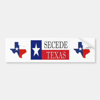Secede Texas 2 Bumper Sticker