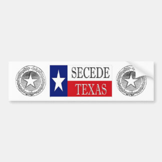 Secede Texas 2 Bumper Sticker