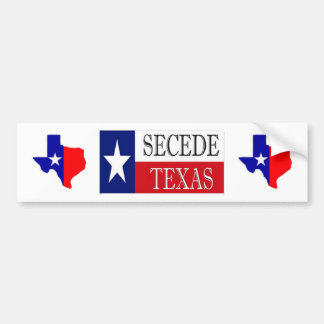 Secede Texas Bumper Stickers