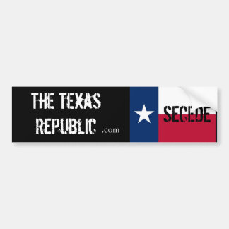 Secede!! The Texas Republic Bumper Sticker