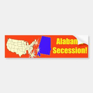 ¡Secesión de Alabama! Etiqueta De Parachoque