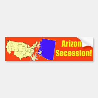 ¡Secesión de Arizona! Pegatina Para Auto