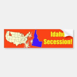 ¡Secesión de Idaho! Pegatina De Parachoque