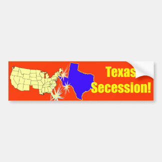 ¡Secesión de Tejas! Etiqueta De Parachoque