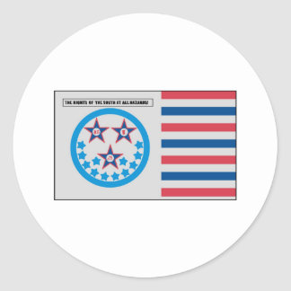Secession Flag used by Florida - January 10, 1861 Classic Round Sticker