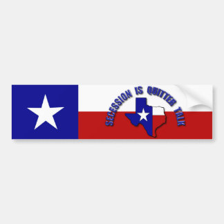 Secession is Quitter Talk Bumper Stickers