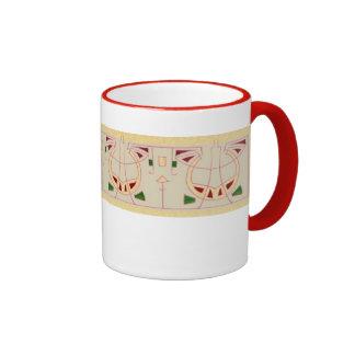 Secessionist Design Ringer Coffee Mug