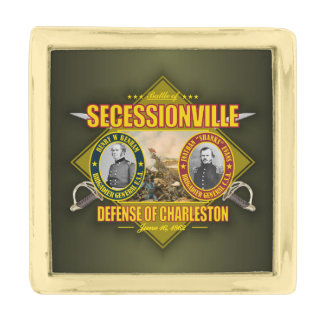 Secessionville Gold Finish Lapel Pin