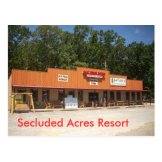 Secluded Acres Resort Postcard