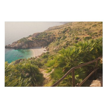 Secluded beach in Lo Zingaro, Sicily Faux Canvas Print