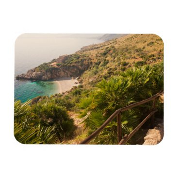 Secluded beach in Lo Zingaro, Sicily Magnet
