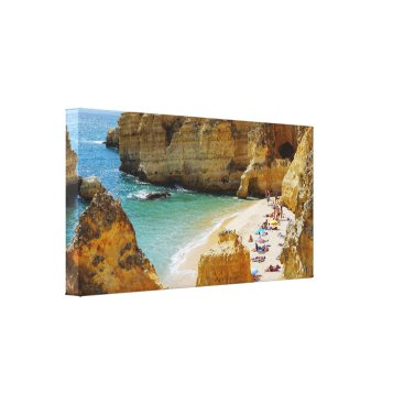 Beach Themed Secluded  Beach in Portugal Canvas Wrap