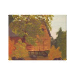 Secluded Cabin In The Fall Canvas Prints