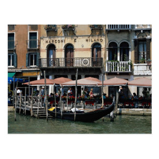Secluded cafe terrace, Venice, Italy Postcard