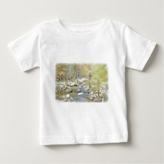 Secluded Creek in the Forest with Matte Baby T-Shirt