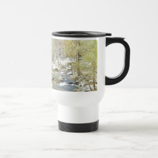 Secluded Creek in the Forest with Matte Travel Mug