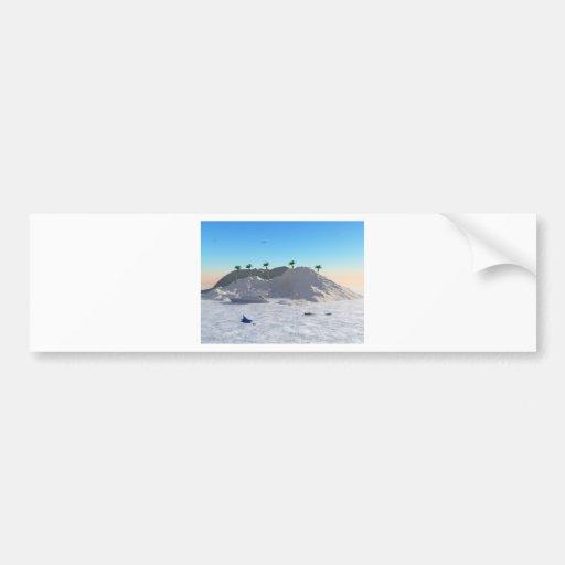 Secluded Island Car Bumper Sticker