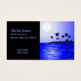 Secluded Island Tropics Radiance Business Card