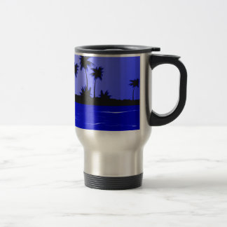 Secluded Island Tropics Radiance 15 Oz Stainless Steel Travel Mug