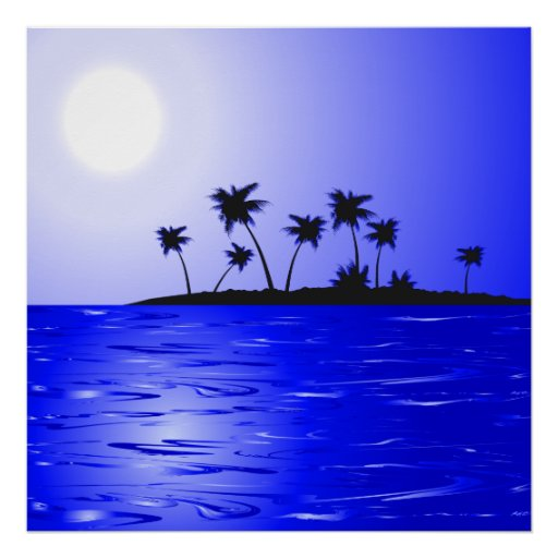 Secluded Island Tropics Radiance Print