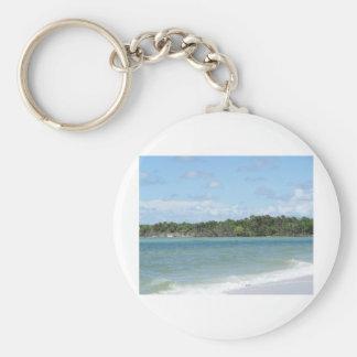 Secluded Naples Beach Keychain